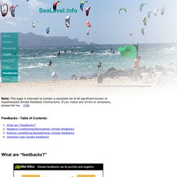 SeaLevel.info climate feedbacks