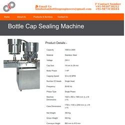 Bottle Cap Sealing Machine Manufacturer Supplier India, Best Prices of Bottle Cap Sealing Machine India