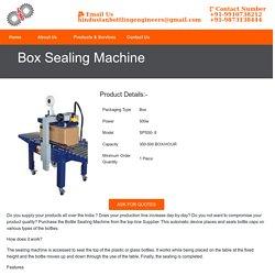 Box Sealing Machine Manufacturer Supplier India