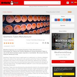 Seamless Tubes Manufacturer Article