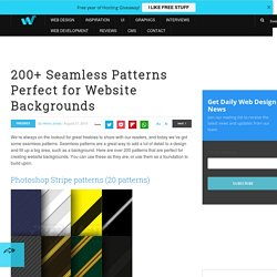 200+ Seamless Patterns Perfect for Website Backgrounds | Freebies