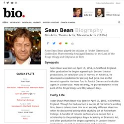 Sean Bean - Film Actor, Theater Actor, Television Actor
