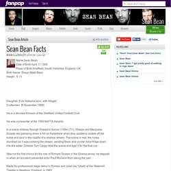 Sean Bean Facts - Sean Bean