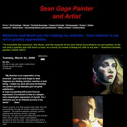 Sean Gage Painter and Artist