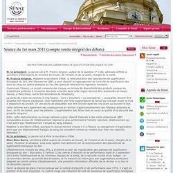 Séance du 1er mars 2011 (compte rendu intégral des débats)
