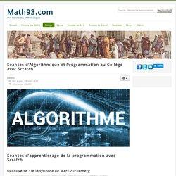 Séances Algorithme avec Scratch