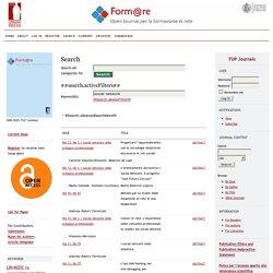 Rivista Form@re - Tag: Social Network