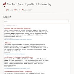 Stanford Encyclopedia of Philosophy
