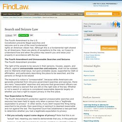 Search and Seizure Law