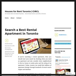Search a Best Rental Apartment in Toronto – Houses for Rent Toronto