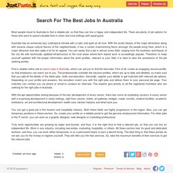 Search For The Best Jobs In Australia - justpaste.it