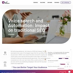 Voice search and Automation: Impact on traditional SEO