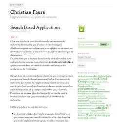 Search Based Applications