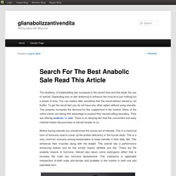 Search For The Best Anabolic Sale Read This Article