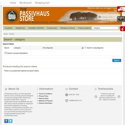 Passivhaus store - Windows & Doors