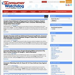 Search | Consumer Watchdog