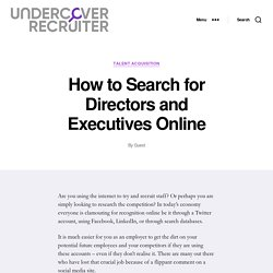 How To Search for Directors and Executives Online