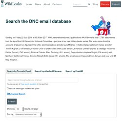 Search the DNC email database