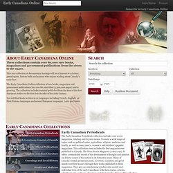 Search Early Canadiana Online