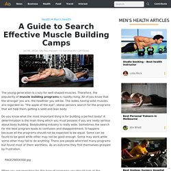A Guide to Search Effective Muscle Building Camps