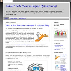 ABOUT SEO (Search Engine Optimization)