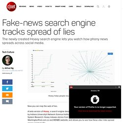 Fake-news search engine tracks spread of lies - CNET