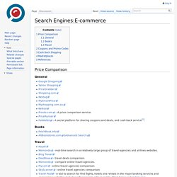 Search Engines:E-commerce