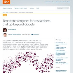 Ten search engines for researchers that go beyond Google