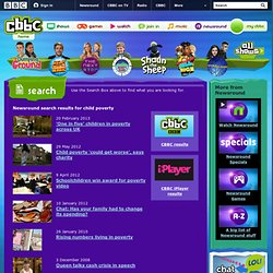 BBC - Newsround - Search results for child poverty