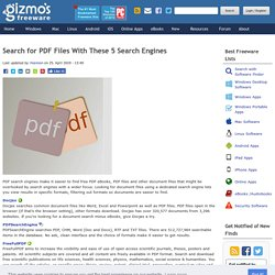 Search for PDF Files With These 5 Search Engines