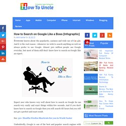 How to Search on Google Like a Boss [Infographic]