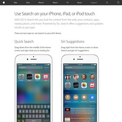 Use Search on your iPhone, iPad, or iPod touch