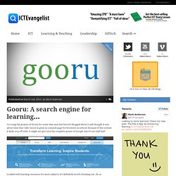 Gooru: A search engine for learning...