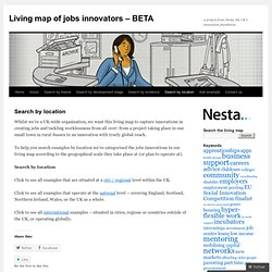 Living map of jobs innovators - BETA