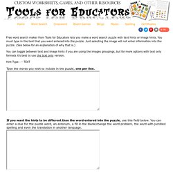 Word Search Maker from Tools for Educators