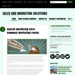 Search Marketing 2014: Comment Marketing rocks!