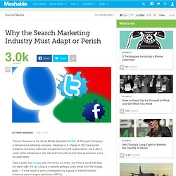 Why the Search Marketing Industry Must Adapt or Perish