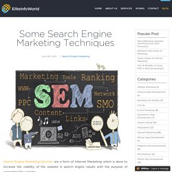 Some Search Engine Marketing Techniques