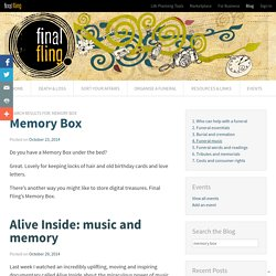 """Search for """"memory box"""" - Final Fling"""