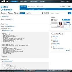 Search Plugin:Flickr - Mozilla Community - Flock