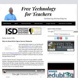 Tecnología gratuita para docentes: cómo buscar conjuntos de datos de acceso abierto