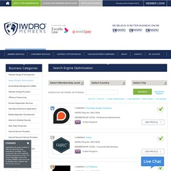 IWDRO Membership To Search Engine Optimization Companies