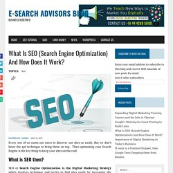 What Is SEO (Search Engine Optimization) And How Does It Work? - E-Search Advisors Blog