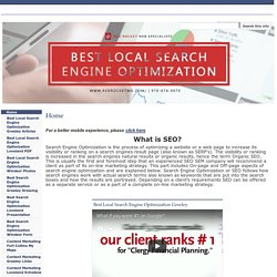 Best Local Search Engine Optimization Fort Collins