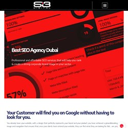 Search Engine Optimization – Si3 Digital Agency Dubai