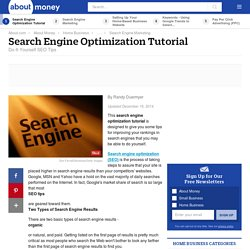 Search Engine Optimization Tutorial and Tips - DIY SEO