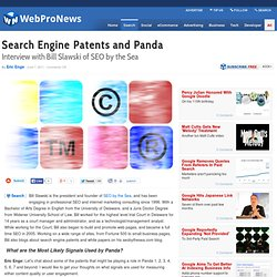 Search Engine Patents and Panda