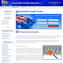 Search for People in Australia
