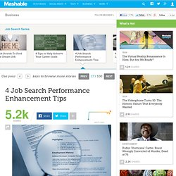 4 Job Search Performance Enhancement Tips
