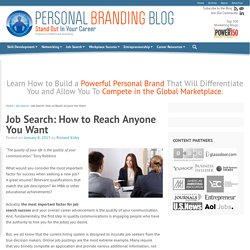 Job Search: How to Reach Anyone You Want
